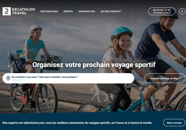 home page decathlon travel